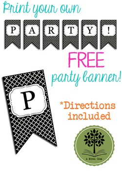 FREE Modern Clover PARTY Flags Banner Printable!