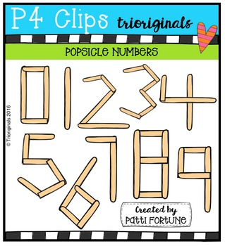FREE  Popsicle Numbers {P4 Clips Triorignals Digital Clipart}