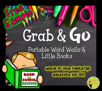Free School Word Walls, Back to School Words, Portable Word Walls