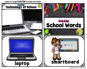 Free School Word Walls, Back to School Words, Portable Word Walls