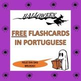 FREE Portuguese Halloween Flash Cards: O Dia das Bruxas