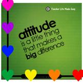 FREE Positive ATTITUDE Posters!