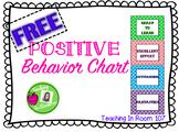 FREE Positive Behavior Chart
