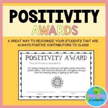 FREE Positivity Awards