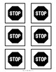 Printable Post-It Note Template -- Reading Stop Signs