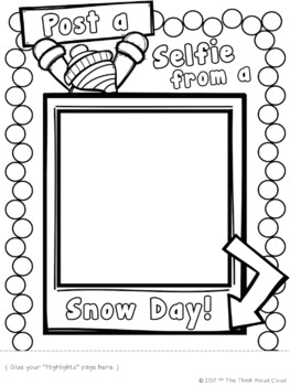Snow Day ~ FREE Post a Selfie ~ A Low Prep Writing Activity