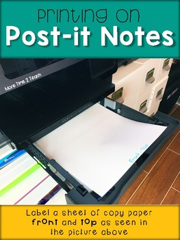 FREE Post-it Note Template {Today's Top 3}