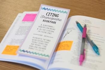 FREE Poster & Bookmark: Shakespeare MLA Citation