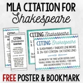 FREE Poster & Bookmark: Shakespeare MLA Citation