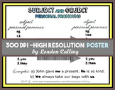 FREE Poster - Subject and Object personal pronouns