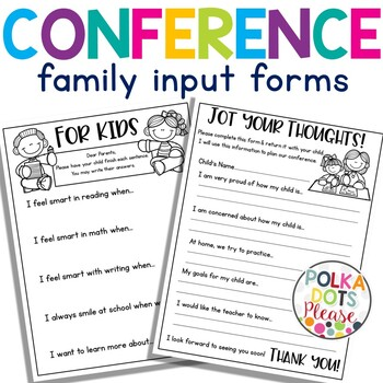 FREE Pre-Conference Surveys for Parents and Kids