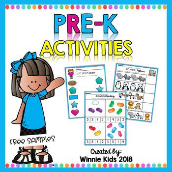 FREE Pre-K Activities