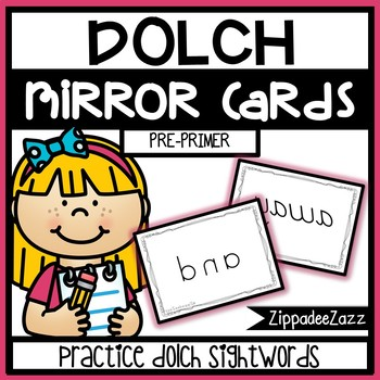 FREE Pre Primer Dolch Sight Words Mirror Cards SAMPLE