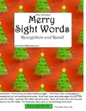 FREE File Folder Reading Pre-Primer Sight Words Christmas Theme