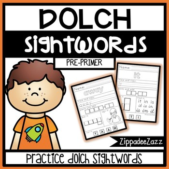 FREE Pre Primer Dolch Sight Words Multi-Sensory Activity Worksheets SAMPLE