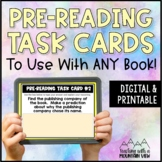 *FREE!* Pre-Reading Task Cards Mini-Set for Novel Study (Before Reading Tasks)