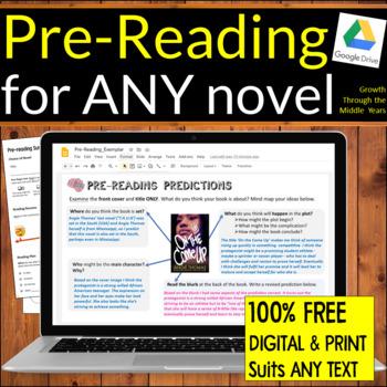 FREE Pre-Reading WORKSHEET
