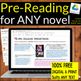 FREE Pre-Reading WORKSHEET