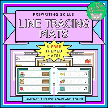 FREE Pre-Writing Skills Themed Line Tracing Mats
