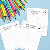 FREE Pre-Writing Worksheets, Fine Motor Skills, Tracing Practice
