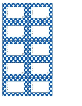 FREE Pre-made Polka Dot Classroom Seating Labels for Desks