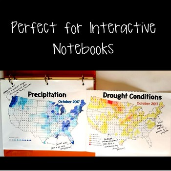 FREE! Precipitation and Drought JUMBO Notes and Color-by-Number