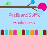 FREE Prefix/Suffix Bookmarks TEKS Aligned