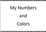 FREE Preschool Activity Book Printable: My Numbers and Colors