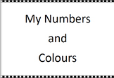 FREE Preschool Activity Book Printable: My Numbers and Colours