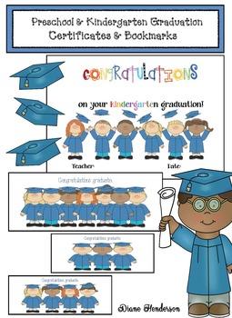 FREE Preschool & Kindergarten Graduation Certificate & Bookmarks