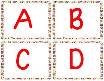 FREE Preschool Letter Flash Cards