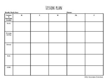 Preschool Weekly Lesson Plan Template from ecdn.teacherspayteachers.com