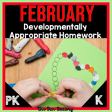 FREE Preschool and Kindergarten Homework Calendar | EDITAB