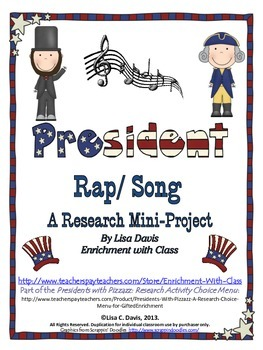 FREE President Rap/Song Research Mini-Project