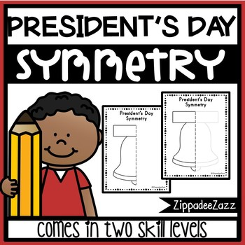 FREE President's Day Symmetry Drawing Activity for Art and Math SAMPLE