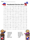 FREE:  Presidential Election Word Search