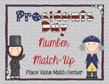 FREE Presidents Day 3-digit place value center activity