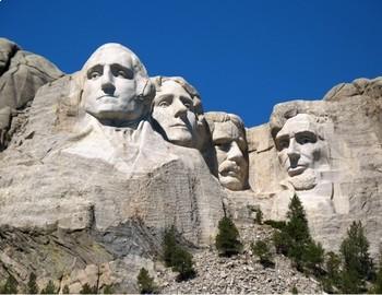 FREE - Presidents' Day Printable Clip Art Mini Poster | Mt. Rushmore