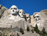 FREE - Presidents' Day Printable Clip Art Mini Poster - Mt. Rushmore