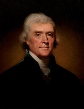 FREE - Presidents' Day Printable Clip Art Mini Poster   Thomas Jefferson
