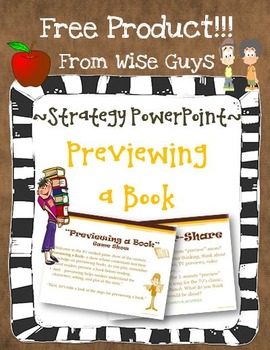 Previewing a Book Reading Strategy Activity