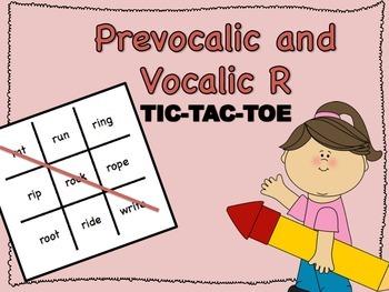 FREE Prevocalic & Vocalic R TIC-TAC-TOE