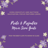 FREE Pride and Prejudice (2005) Movie Scene Breakdown Guide