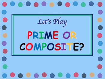 FREE Prime or Composite Around the World Game
