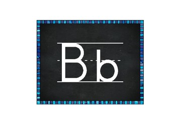 FREE Print Alphabet with Chalkboard Background