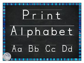 FREE Print Alphabet with Chalkboard Background