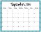 FREE Printable 2016-2017 School Year Calendar