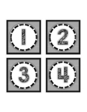 Book Box Labels Numbered 1-32 Numbers Black & White FREE!