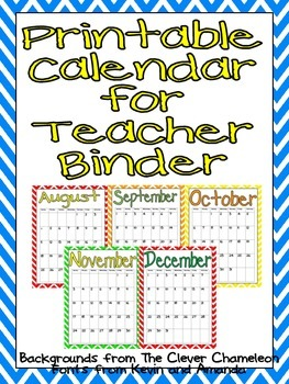 picture regarding Free Printable Calendars for Teachers known as Cost-free Printable Calendar 2017-2018