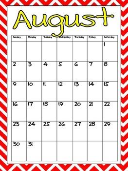 FREE Printable Calendar 2017-2018